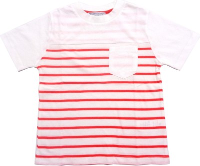 TENDER TOUCH Striped Boy's Round Neck Multicolor T-Shirt