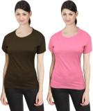 Neo Garments Solid Women's Round Neck Gr...