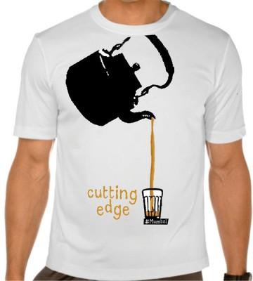 Vagabond Creations Graphic Print Men's Round Neck White T-Shirt
