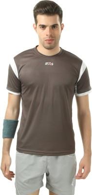 Stag Printed Men's Round Neck Grey, White T-Shirt