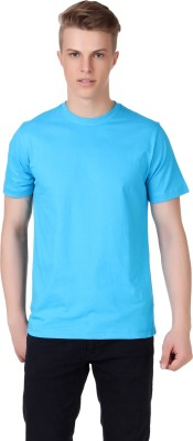 Aventura Outfitters Solid Men's Round Neck Light Blue T-Shirt