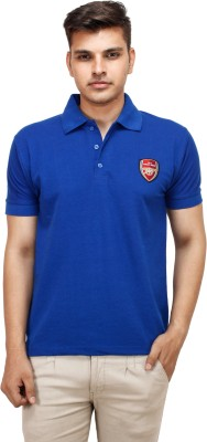 Yuvi Solid Men's Polo Dark Blue T-Shirt