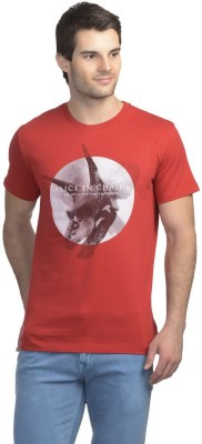 Alice In Chains Printed Men's Round Neck Red T-Shirt