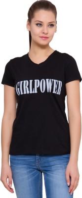 Alibi By INMARK Printed Women's V-neck T-Shirt