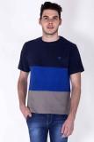 Sera Self Design Men's Round Neck Blue T...