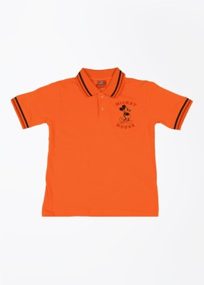 CHERISHKNITS Solid Boy's Polo Orange T-Shirts