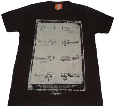 Rayon Printed Men's Round Neck Brown T-Shirt