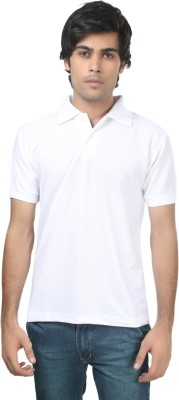 Stylish Trotters Solid Men's Polo White T-Shirt
