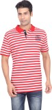 Stoke Striped Men's Polo Neck Red, White...