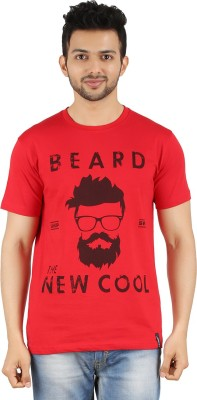 LivUP Printed Men's Round Neck Red T-Shirt