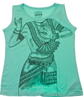 Urumi Graphic Print Women,s Round Neck Green, Black T-Shirt