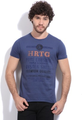 Pepe Printed Men's Round Neck Blue T-Shirt