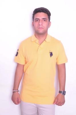 Jura Polo Solid Men's Polo Neck Yellow T-Shirt