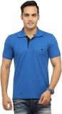 Byrock Solid Men's Polo Neck Blue T-Shir...