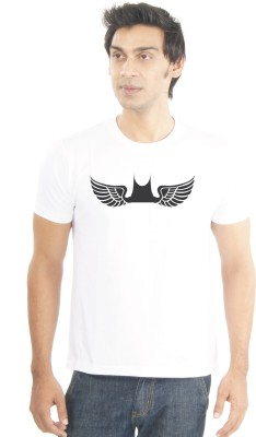 Lacrafters Graphic Print Men's Round Neck White T-Shirt