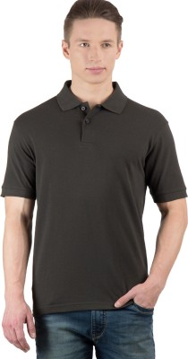 Wilkins & Tuscany Solid Men's Polo Neck Dark Green T-Shirt