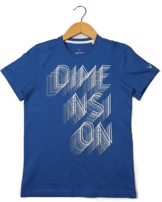 Allen Solly Printed Boy's Round Neck Blue T-Shirt