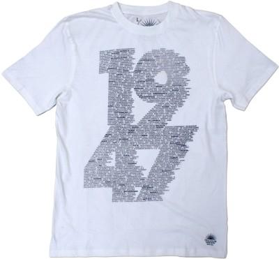 Tricolor Nation Graphic Print Men's Round Neck White T-Shirt