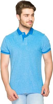 Parx Solid Men's Polo Neck Blue T-Shirt