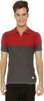 Mercury Men's Wear - ME Mercury Solid Men's Polo Neck Grey, Maroon T-Shirt
