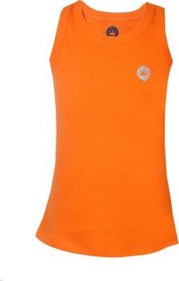 Vitamins Solid Girl's Round Neck Orange T-Shirt
