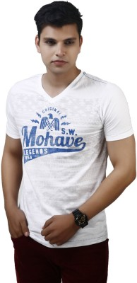 Modimania Printed Men's Round Neck White T-Shirt