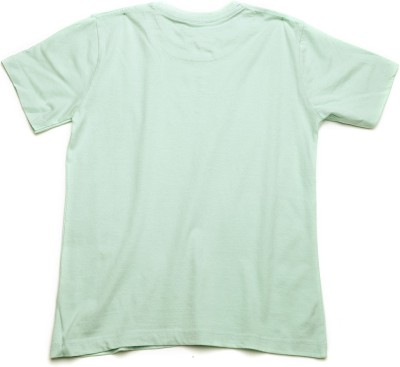WROGN Solid Boy's Round Neck Green T-Shirt