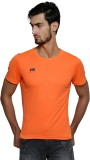 T10 Sports Solid Men's Round Neck Orange...