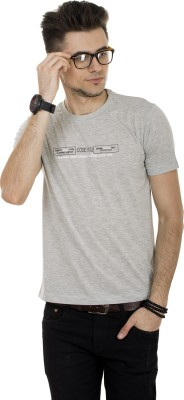 Okane Solid Men's Round Neck Grey T-Shirt