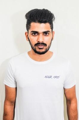 Kolor Kirks Solid Men's Round Neck White T-Shirt