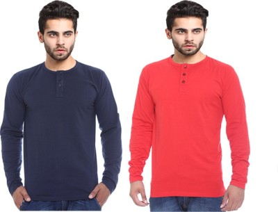 X-Cross Solid Men's Round Neck Multicolor T-Shirt
