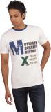 Moxi Printed Men's Round Neck White T-Sh...