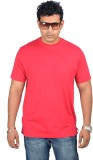 Woodside Solid Men's Round Neck Red T-Sh...
