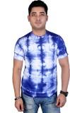 MC Printed Men's Round Neck Blue, White ...