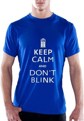 13th Avenue Graphic Print Men's Round Neck Blue T-Shirt