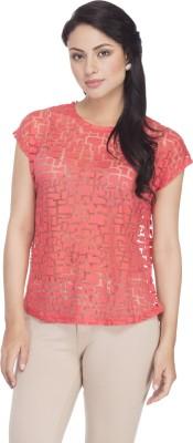 Femella Solid Women's Round Neck Orange T-Shirt