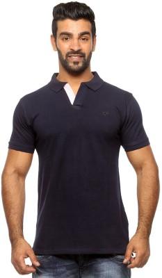 Sports 52 Wear Solid Men's Polo Neck Blue T-Shirt