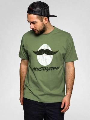 Jhingu Printed Men's Round Neck Green T-Shirt