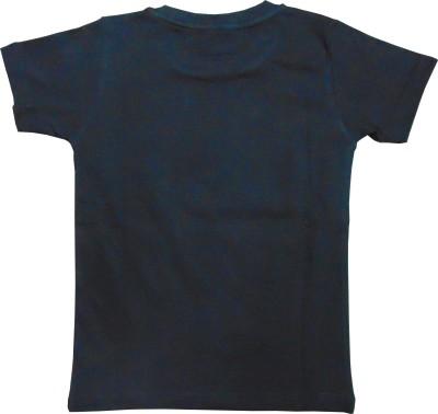 MOTU PATLU Solid Boy's Round Neck Black T-Shirt