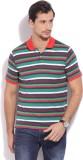 Flippd Striped Men's Polo Neck Multicolo...