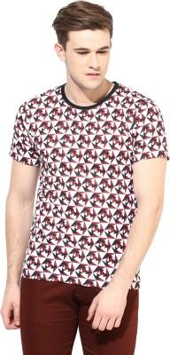 Benoit Printed Men's Round Neck Maroon T-Shirt
