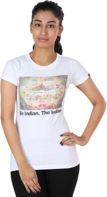 The Indian Graphic Print Women's Round Neck T-Shirt