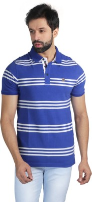 Nostrum Jeans Striped Men's Polo Neck Blue, White T-Shirt
