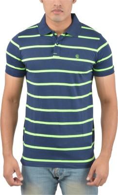 Plush Striped Men's Polo T-Shirt