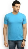 Police Solid Men's Round Neck Blue T-Shi...