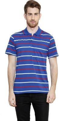 Freak,N by Cotton County Striped Men's Polo Blue T-Shirt