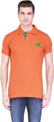 Right Shape Solid Men's Polo Orange T-Shirt