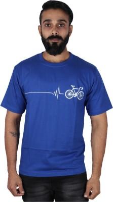 Pickled Merchandise Graphic Print Men's Round Neck Blue T-Shirt