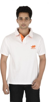 Buzkachi Solid Men's Polo White T-Shirt