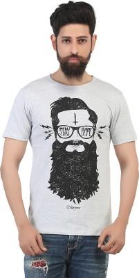 Maxzone Printed Men's Round Neck White T-Shirt